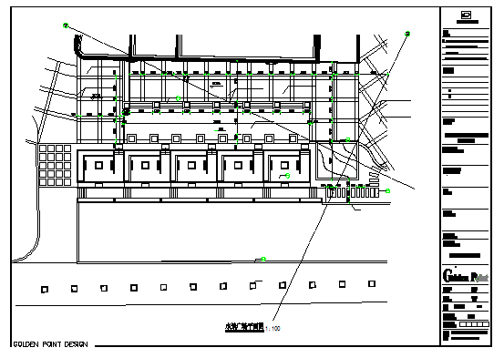 Water view Commercial Plaza design drawing