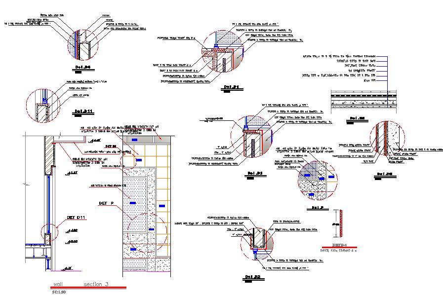 Window section detail dwg file