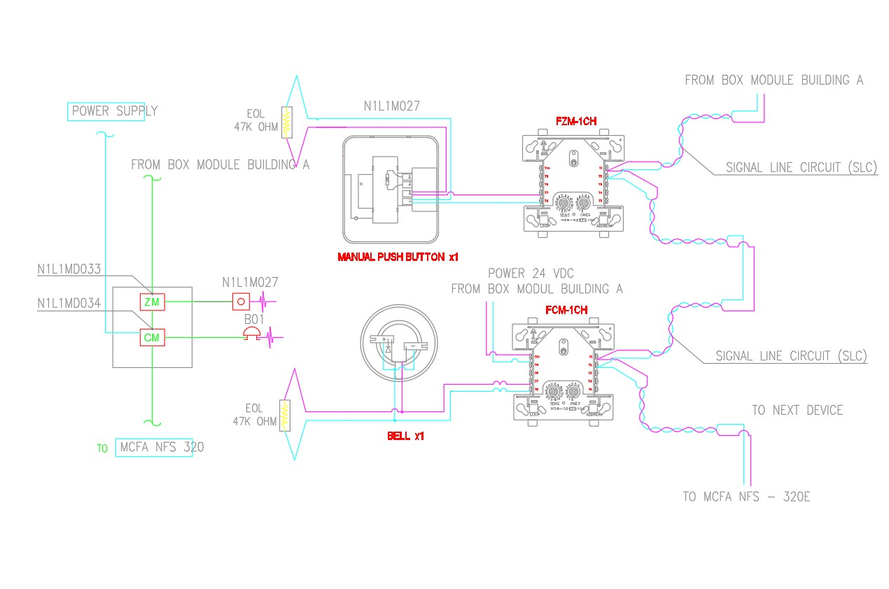 Wiring Diagram Fire Alarm System For Guard House Detail ... on