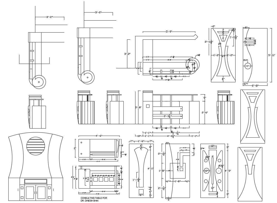 Wooden Door Design CAD File