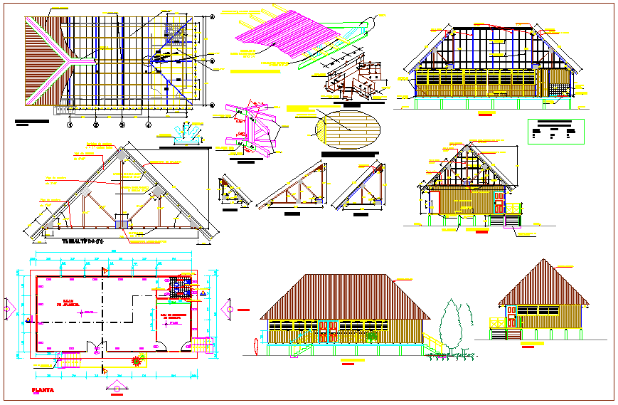 Wooden store design view