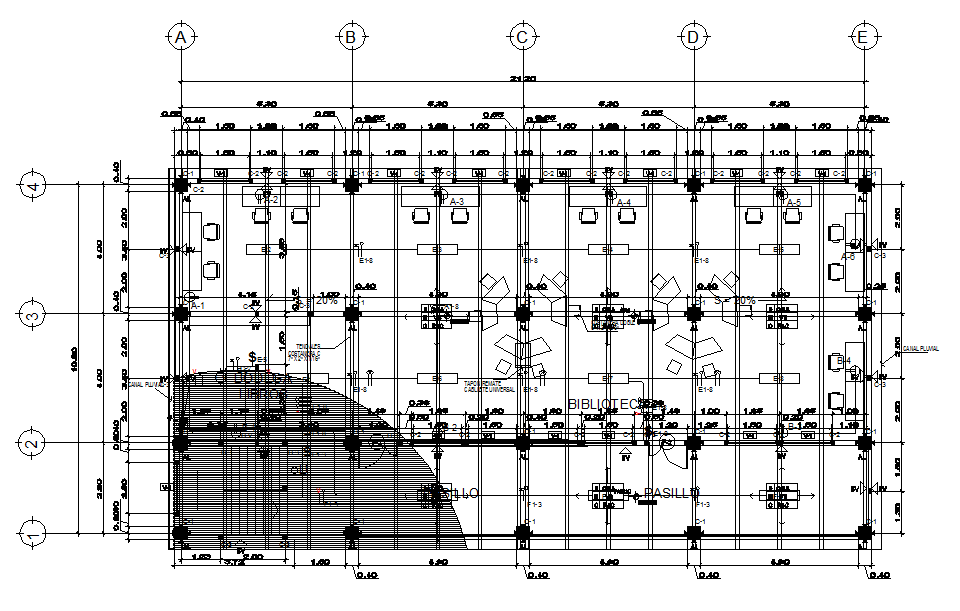 Working Commercial plan and elevation layout detail dwg file