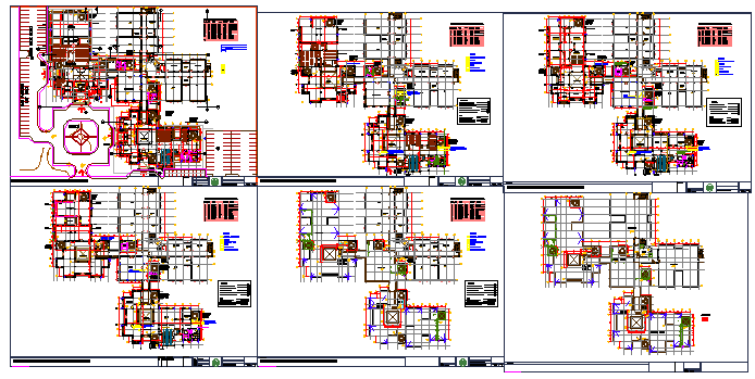 Working & planing layout design of engineering college design drawing