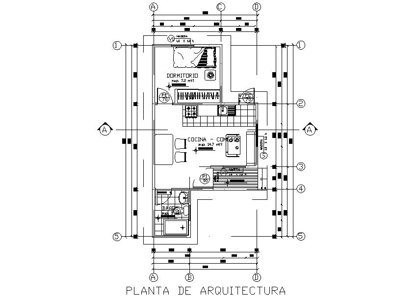 Working architect house autocad file