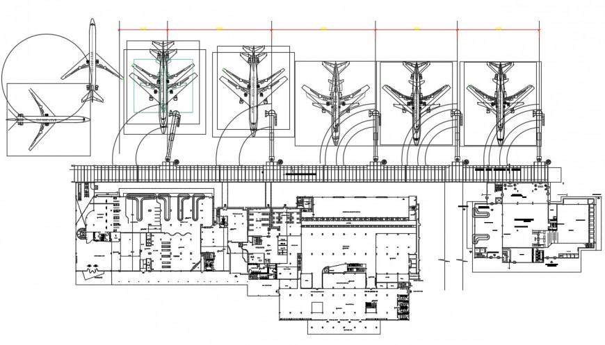 Airport terminal floor plan distribution cad drawing ...