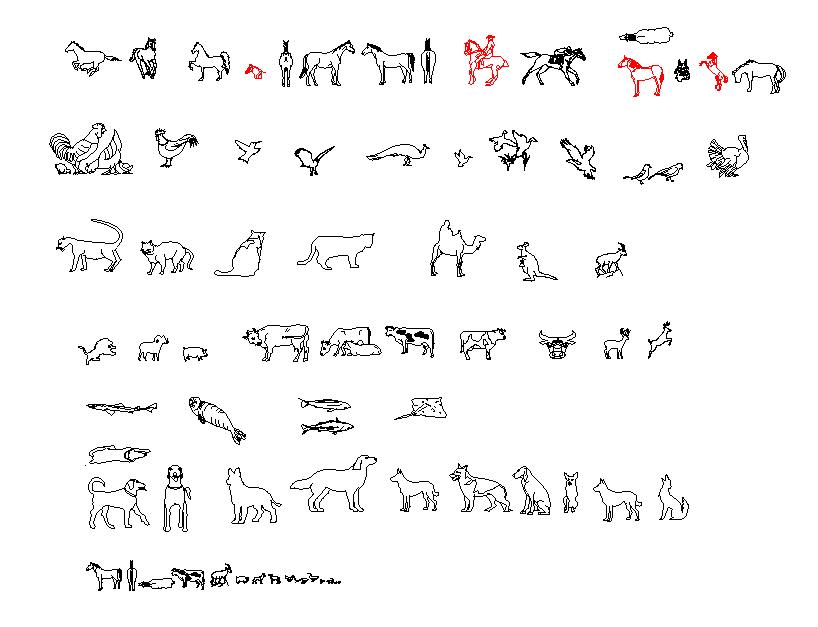 animal dwg file