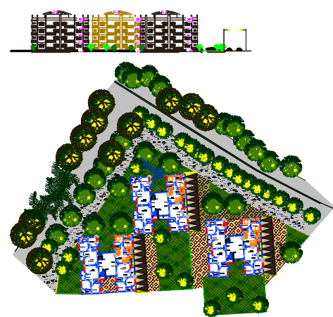 apartment layout plan dwg file