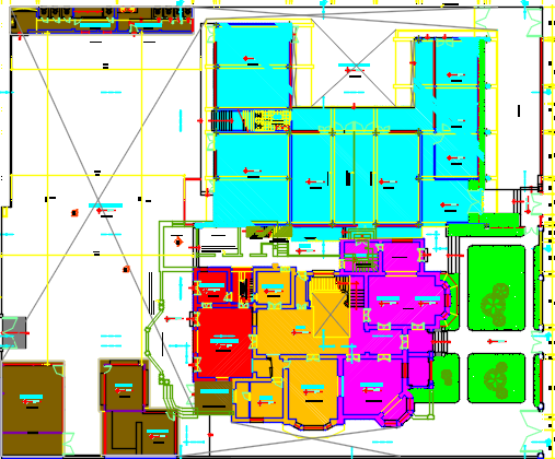 architecture of university dwg file