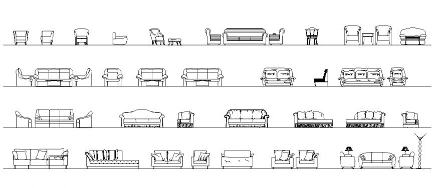 Arm Chair Sofa Chair Block Design
