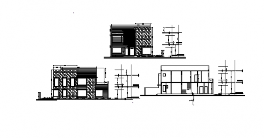 Autocad file of house project 2d detail