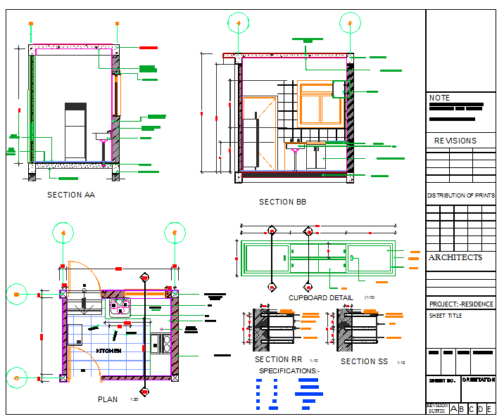 Kitchen Design DWG