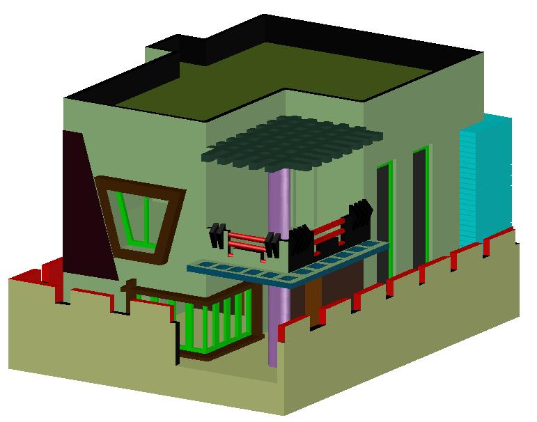 3D Duplex House