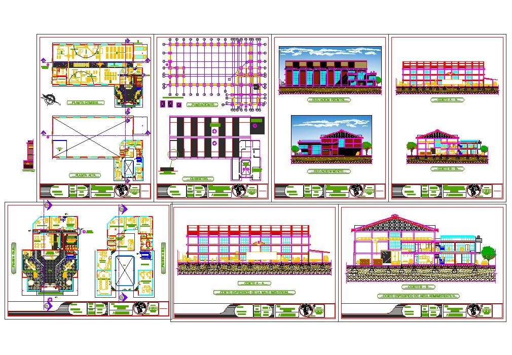 Factory architecture detail