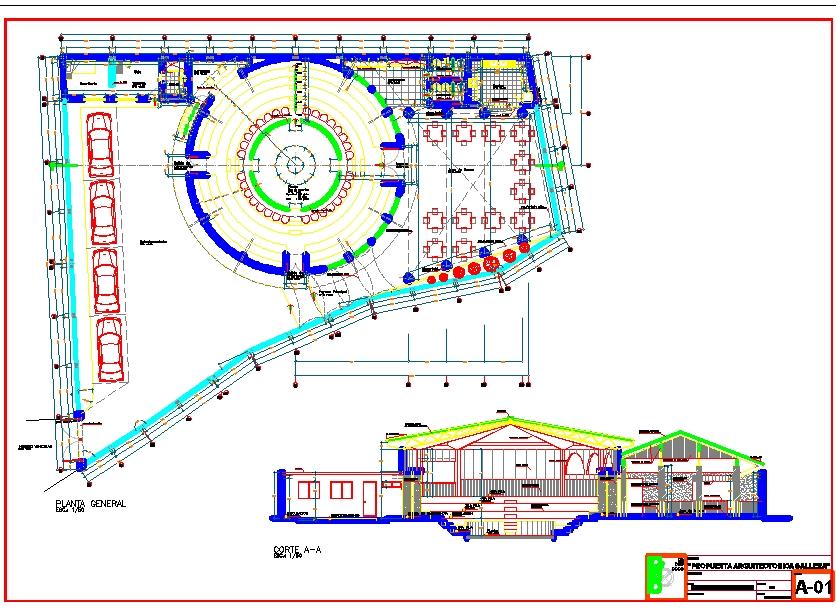 Simple Restaurant Detail plan