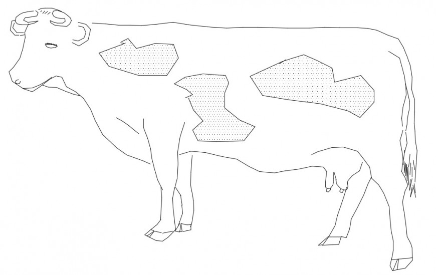 CAd drawings details of cow