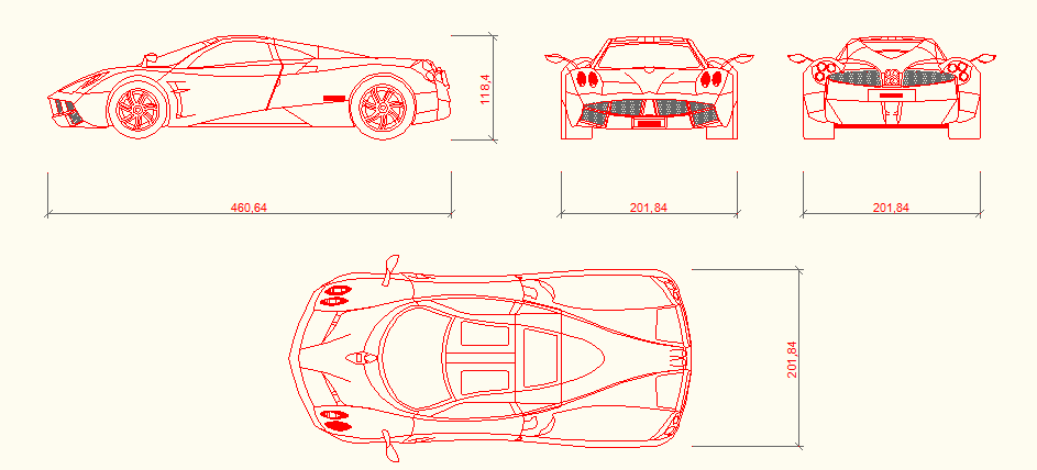 car elevation dwg file