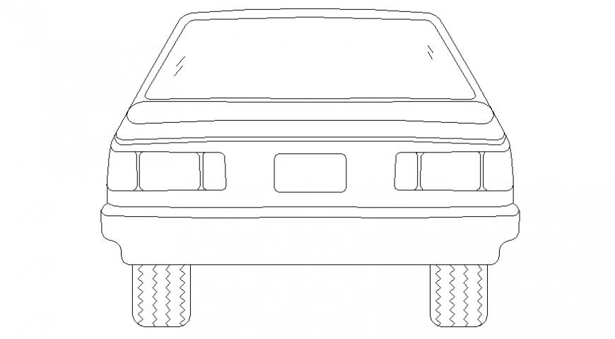 Car back view file