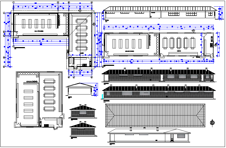casino drawing  of plan, elevation  dwg file