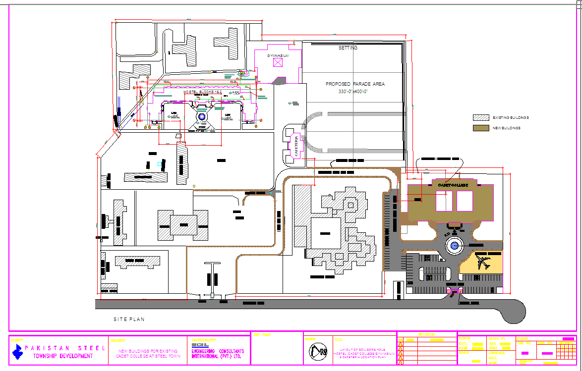 Hostel Lay-out plan