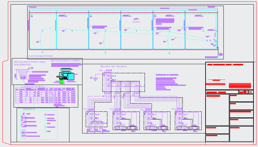 Electrical layout of Industrial plant