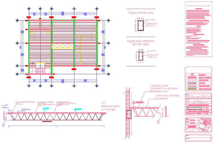 Structure Drawing of office building