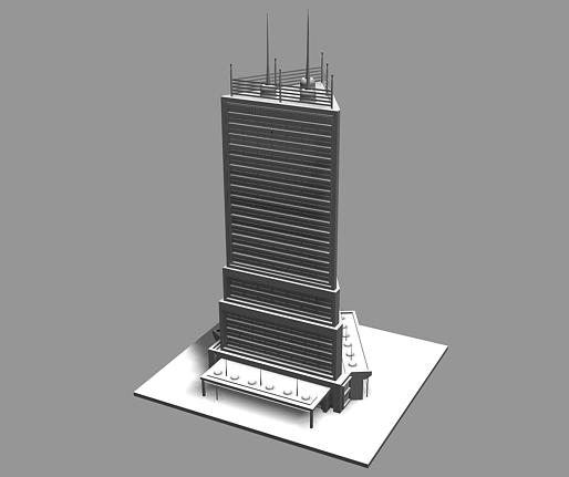3d Tower Building