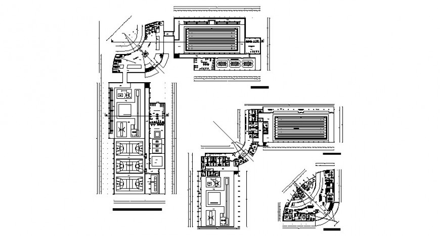 Center high rend hotel building plan and auto-cad details dwg file