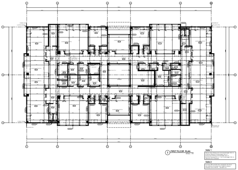 college building second floor plan