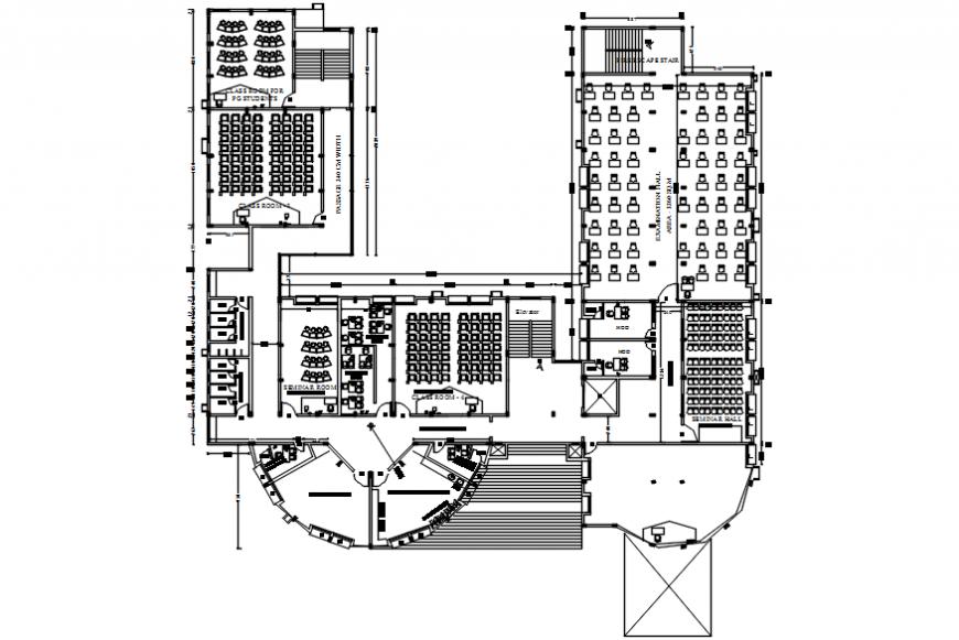 College auditorium plan details