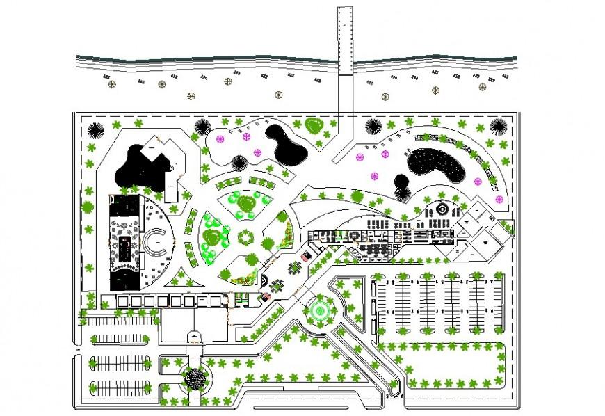 Commercial building office plan autocad file