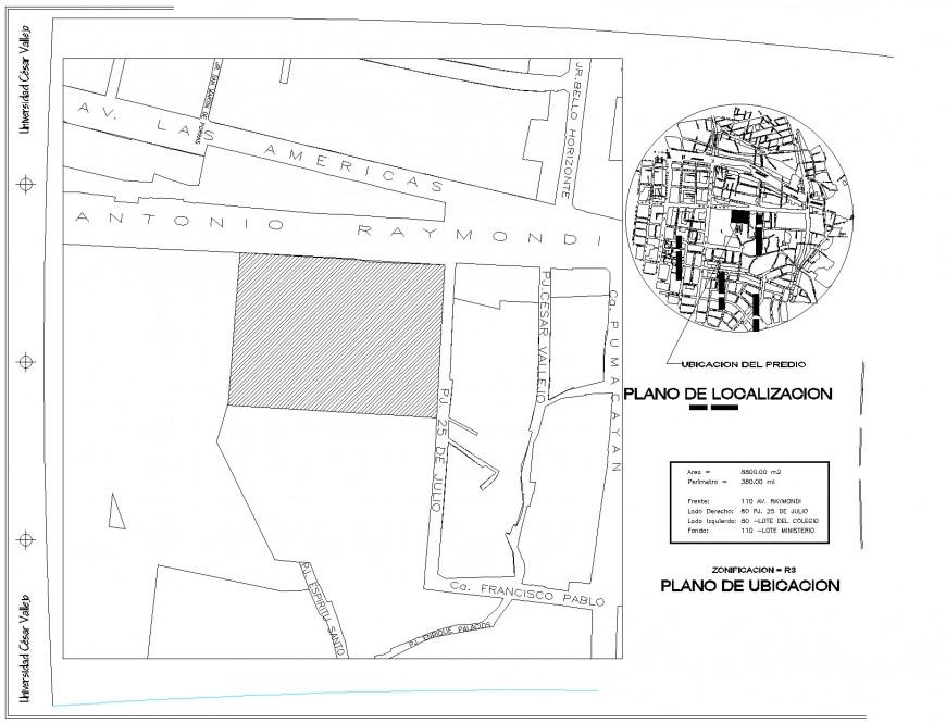 Commercial plot detail plan autocad file