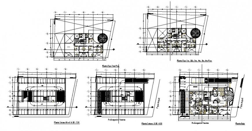 Condominium office building floor plan cad drawing details dwg file