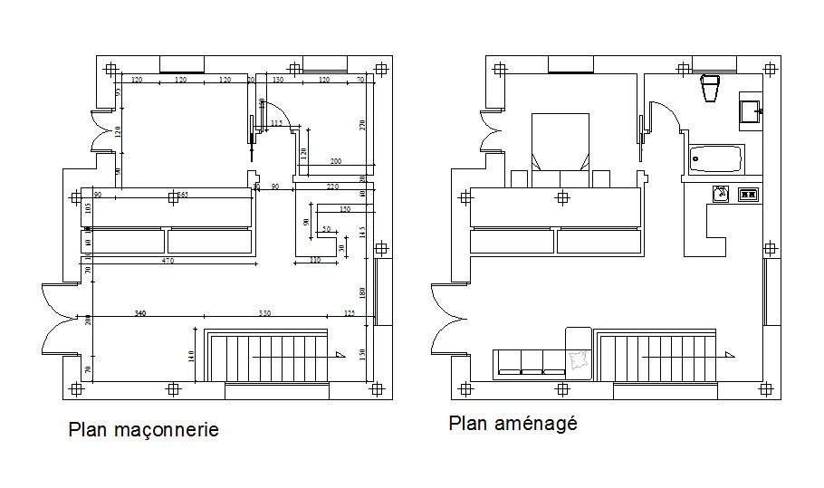 Download Free House Construction Plan In DWG File