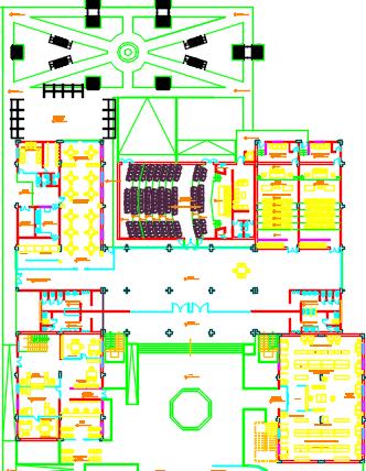 corporate building dwg file