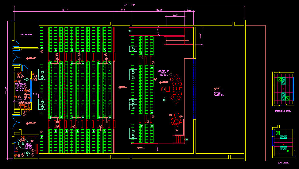 Cinema House plan