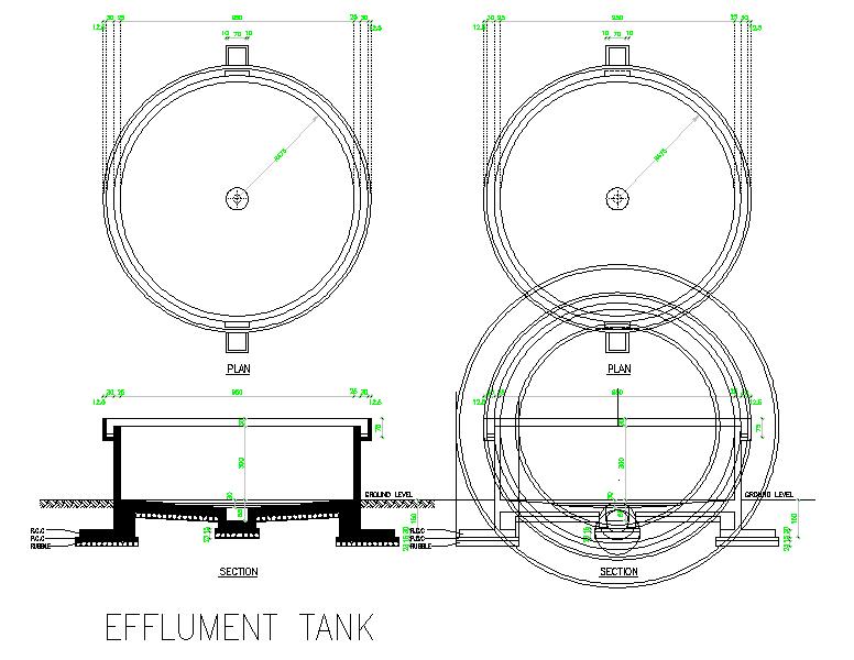 Effluent Tank Detail.