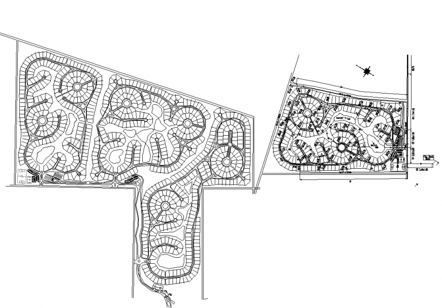 Detail structural plan of a park layout 2d view dwg file