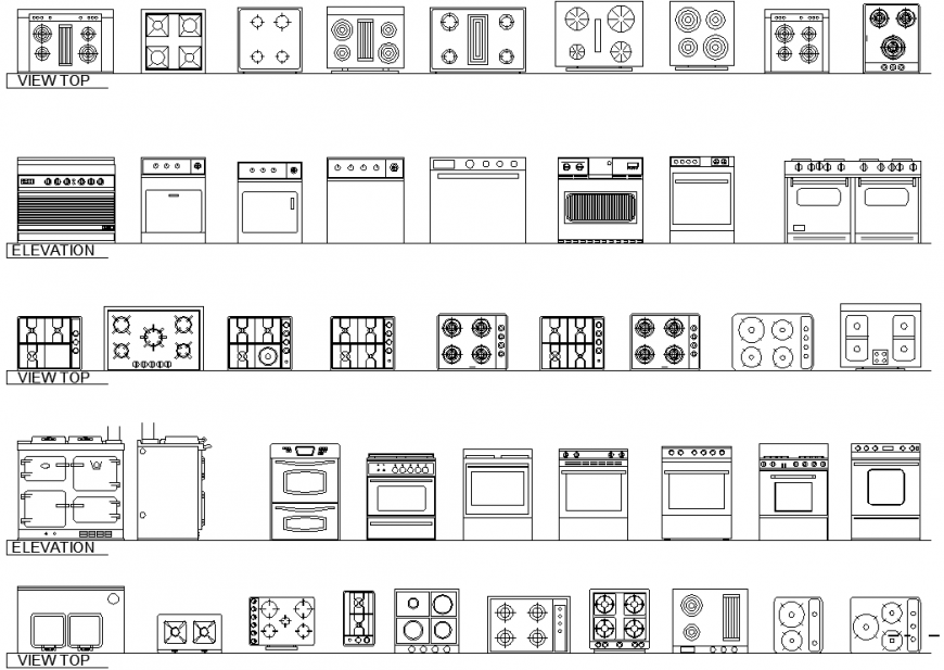 Different accessories plan detail dwg file.