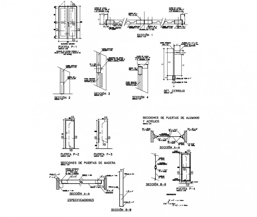 Door blocks detail 2d view elevation layout file in autocad format