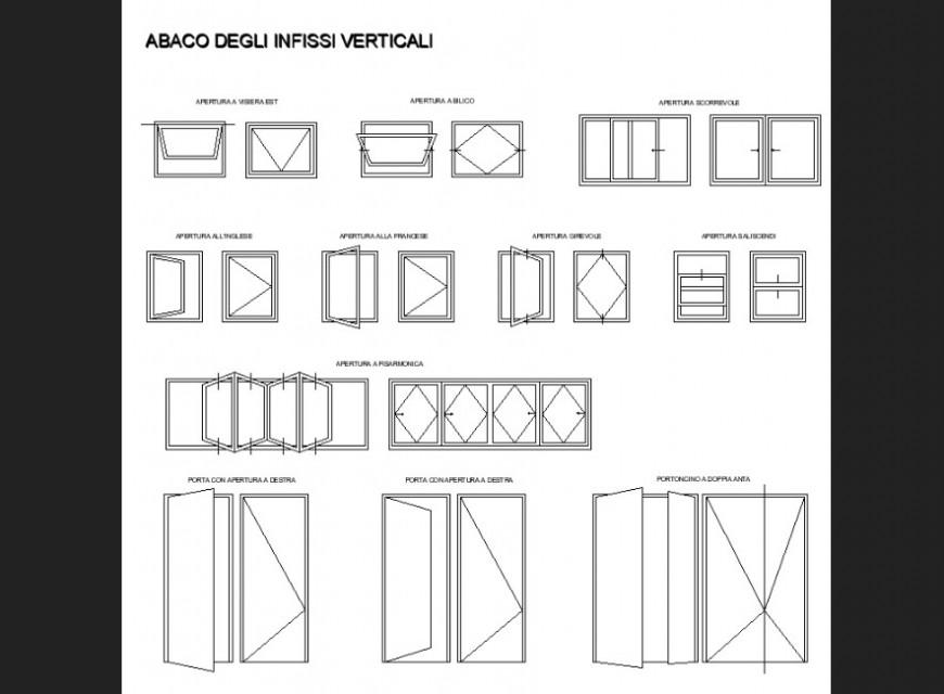 Door plan detail dwg file.