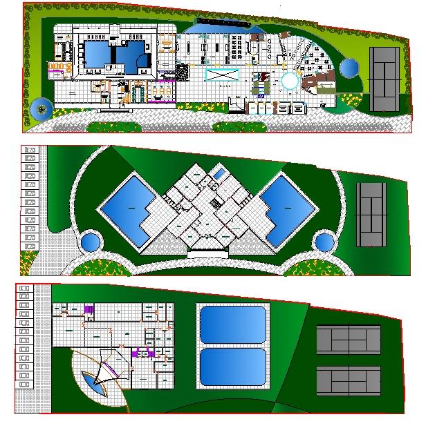 Club House with Garden plan