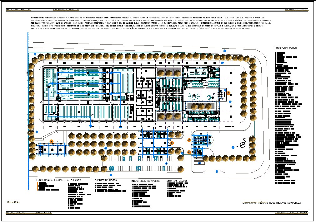 Industrial textiles building cad plan