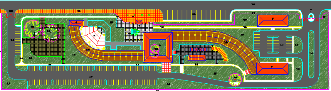 ecological center dwg file