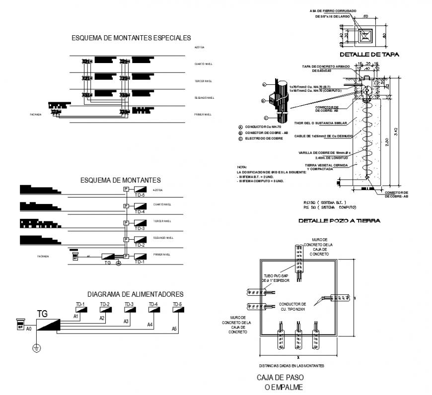 Electrical Circuit Box Detail Elevation 2d View Autocad File