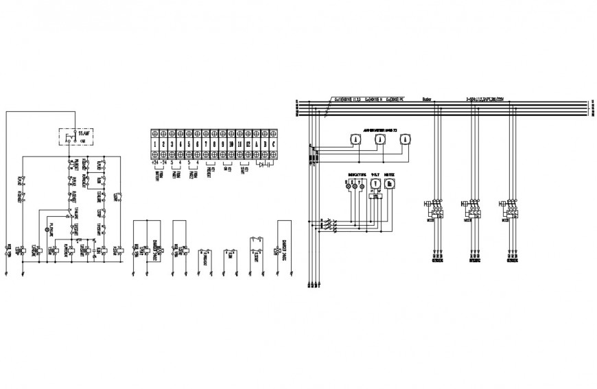 Electrical Diagram Lvmdp Cad Drawing Details Dwg File