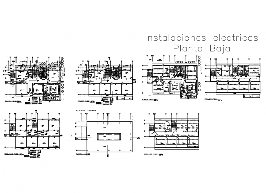Electrical installation layout plan and floor plan details of corporate building dwg file