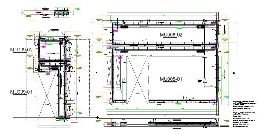 Elevation and section workshop detail dwg file