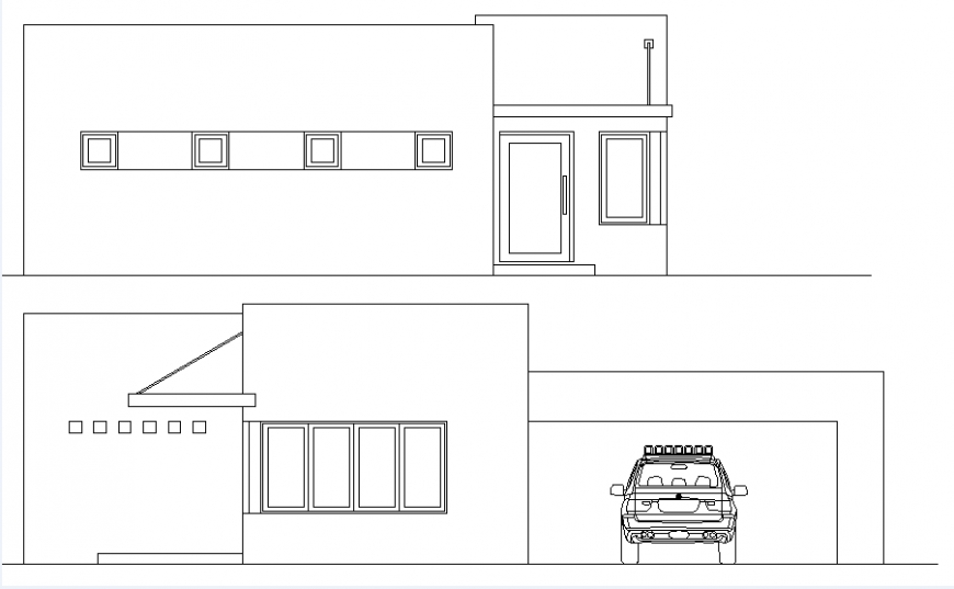 Elevation police station plan layout file