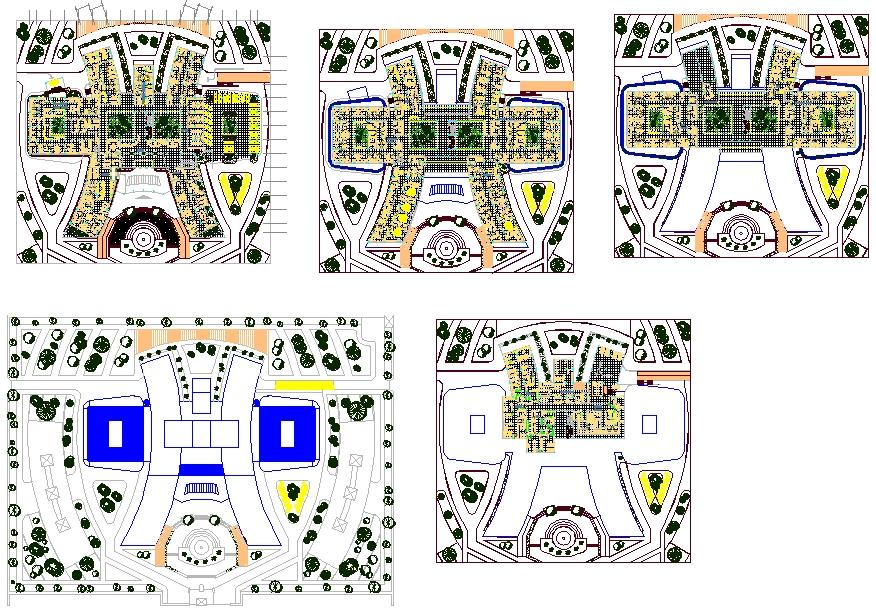 Modern Hospital Detail plan