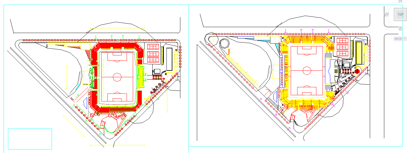 Sport Area Lay-out design